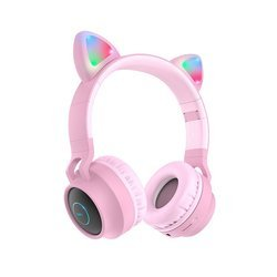 HOCO W27 CAT EAR WIRELESS HEADPHONE PINK